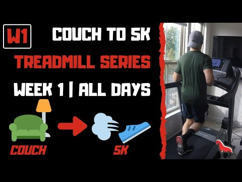 COUCH TO 5K | Week 1 All Workouts | Treadmill Follow Along!