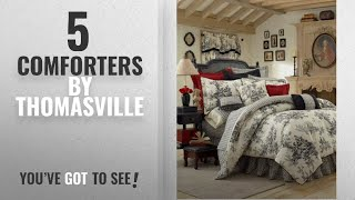 Top 10 Thomasville Comforters [2018]: Thomasville Bouvier 4-Piece Comforter Set, King