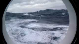Huge Waves From My Porthole! Part 3
