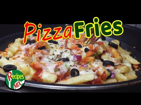 How To Make Pizza Fries Without Oven At Home - A Easy Home Made Recipe By Recipes Mix