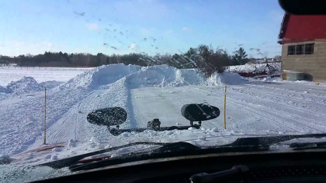 """Jeep With Plow >> 02 jeep liberty Meyer Drive Pro 6'8"""" snow plow - YouTube"""