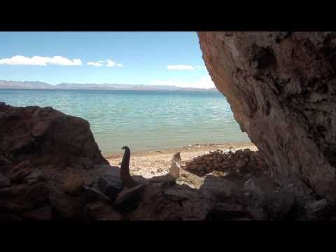 In a Cave at Lake Manasarovar listening to the sound of the water
