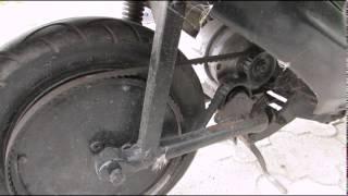 Самодельный электроскутер из Honda Dio. DIY electric scooter from Honda Dio review