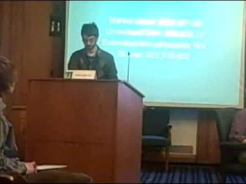UVM War Corporation Divestment Meeting with SRIWG: Benjamin Silverman 7