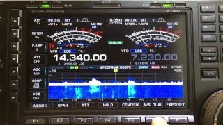 demonstration of the dual scope on the new icom ic 7851