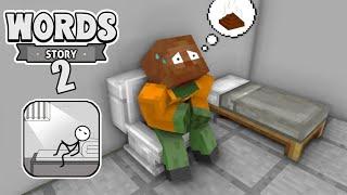 Monster School - WORDS STORY 2 CHALLENGE - Minecraft Animation