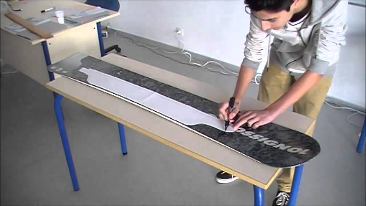 comment fabriquer un skate longboard avec un snowboard recycl tutoriel youtube. Black Bedroom Furniture Sets. Home Design Ideas