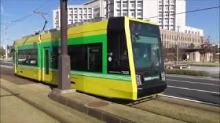 鹿児島市電 ポイントレールを手入れ &新型ユートラムⅢ7500形 交通局前