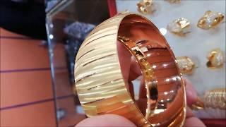 22 Ayar Altın Örgülü Hasır Bilezik & 3 cm Eninde Mega Bilezik 55 Gram Geliyor