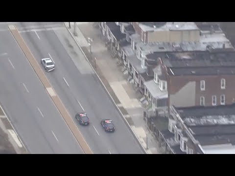 Baltimore Police Chase Shooting Suspect - December 15th 2017