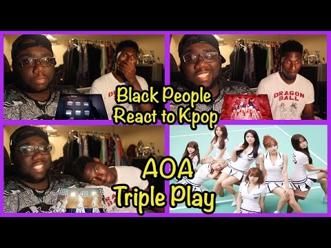 Black People React to Kpop: AOA (에이오에이) - [Get Out , Like a Cat, Heart Attack] | #TriplePlayAOA