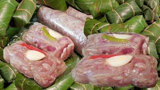 How to make Laos Sour pork วิธีทำ ส้มหมู ของลาว ສົ້ມຫມູ