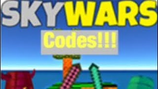 First time recording showing ROBLOX SKYWARS CODES | MG