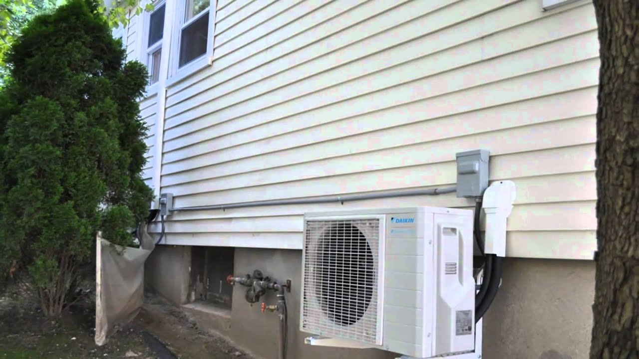 mini split air conditioner and heat pumps works down to  4º   #506A7B