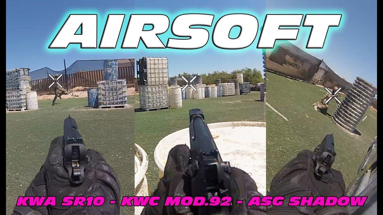 Airsoft KWA SR10 & Full auto M92 Part 2 Gameplay (5/26/19 FighterTown)
