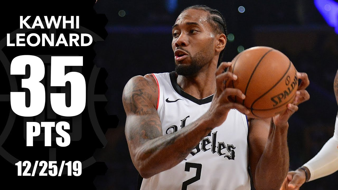 Kawhi Leonard sets Clippers record with 35 points vs. Lakers on Christmas | 2019-20 NBA Highlights