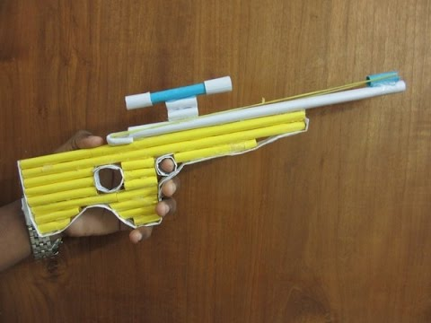 How To Make a Paper Gun That Shoots Bullets( With Trigger)-L96AWP Paper gun