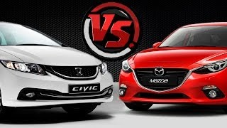 2hp: Mazda 3 VS Honda Civic. 2014