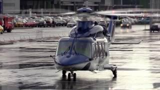 Взлет вертолета Agusta Aw-139 ''Helirussia-2016''