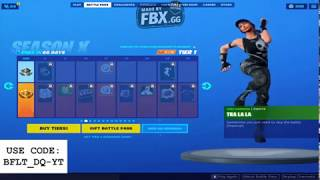 Fortnite Season X battle pass overview All Emotes,Skins,Emoticons Wraps and Last but not the least