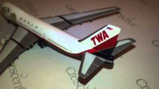 Episode 366: Herpa Wings 502504 TWA Trans World Airlines Boeing 747-121 1/500 Scale