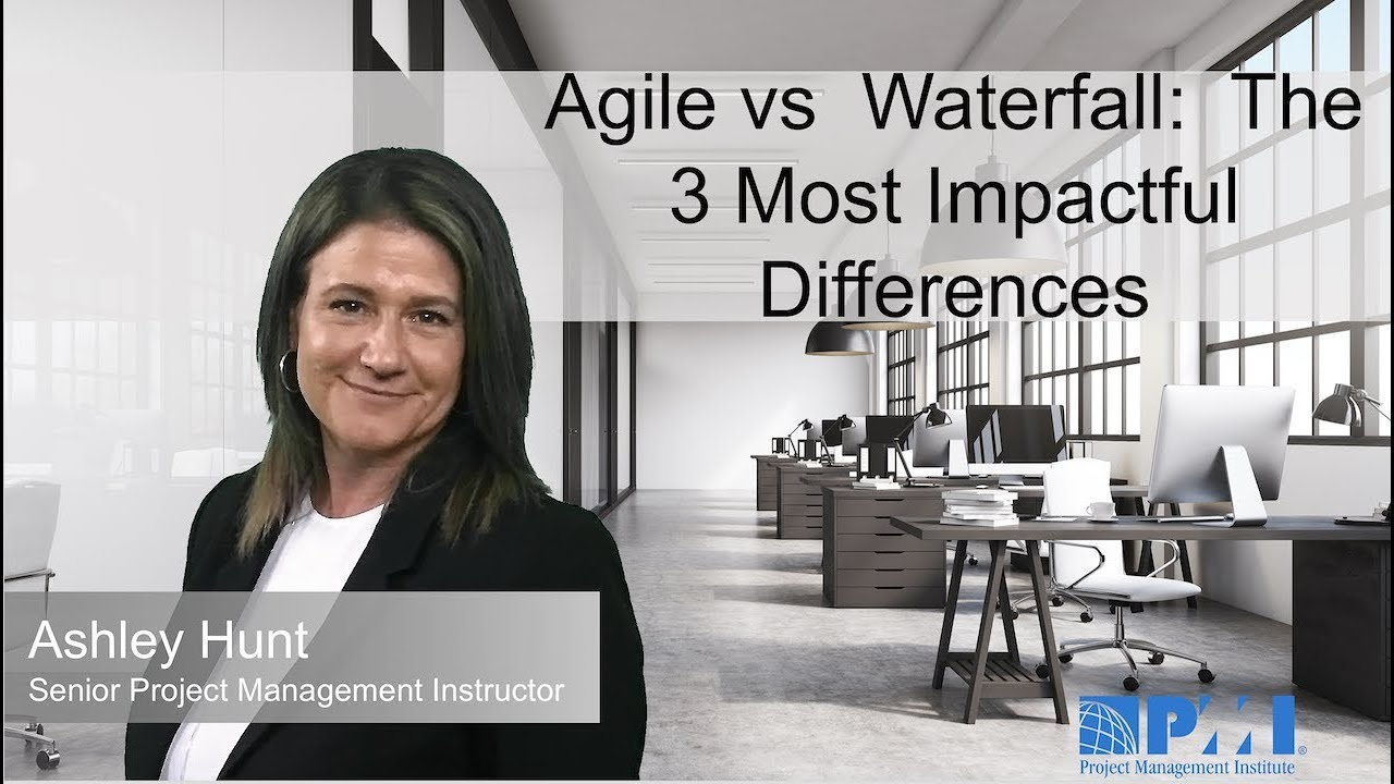 Agile vs Waterfall: The 3 Most Impactful Differences. What team are you?! AGILE VS. WATERFALL. In this week's Vlog, Ashley Hunt talks to each Project Management methodology and the three most impactful differenc.... Youtube video for project managers.