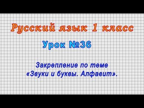 Русский язык 1 класс (Урок№36 - Закрепление по теме «Звуки и буквы. Алфавит».)