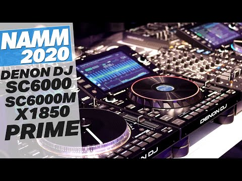 First Look At The Denon DJ SC6000 / 6000M & X1850 Mixer @ NAMM 2020