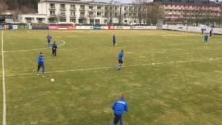 Сборная Украины - первая тренировка в Австрии