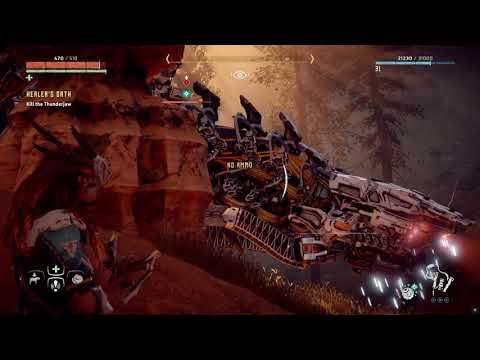 Horizon Zero Dawn Ultra Hard Mode Healer's Oath Quest (Kill the Thunderjaw)  
