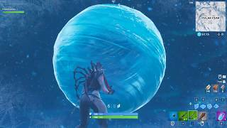 Fortnite: New ice orb /sphere event in the sky at Polar Peak?! (+New glider redeploy item)