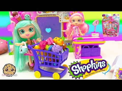 Shoppies Doll Peppa Mint Shops At Small Mart Shopkins Season 4 12 Pack Petkins Unboxing Video