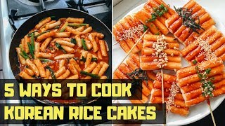 5 Easy Ways to Cook Korean Rice Cakes 🌶🔥💥 •  VEGAN KOREAN STREET FOOD TTEOKBOKKI (떡볶이)