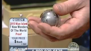 First ever Silver Globe Coin on Art and Coin TV
