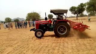 Massey 9500 and swaraj 855 tractor gearbox test stunt   accident