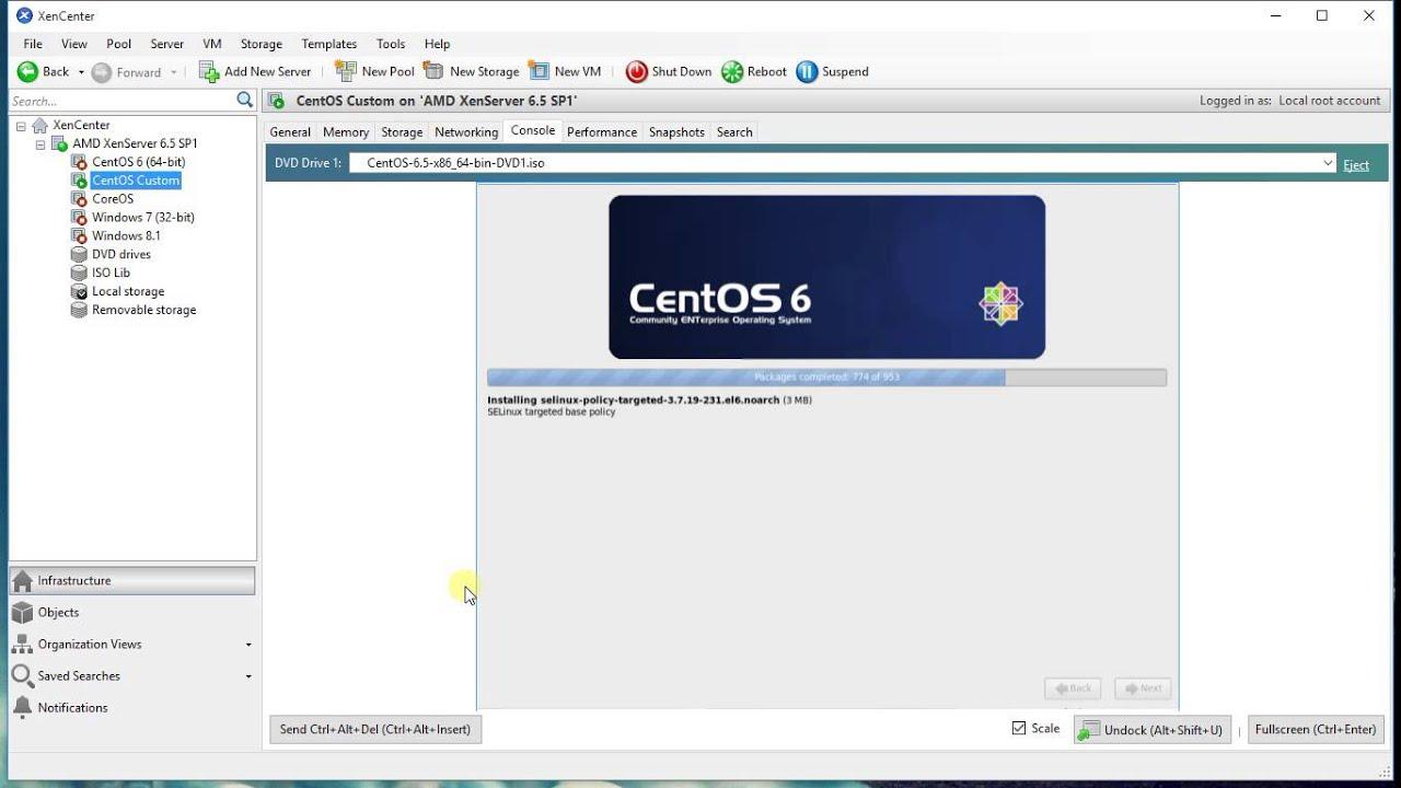 Install CentOS XenServer - YouTube