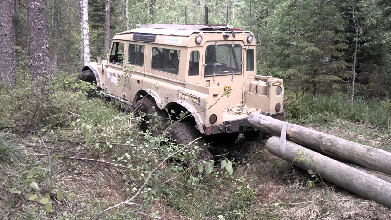 Land Rover 6x6 Trees Towing Youtube