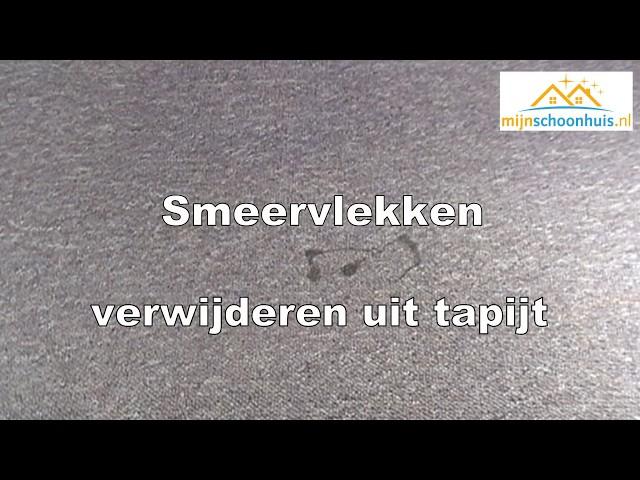 Smeervlekken verwijderen uit tapijt