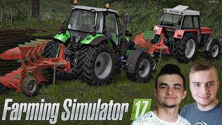 Ciężka orka łąki 2017 na MP MAP v4 ☆ Farming Simulator 2017 MP #5 ㋡ Bronczek & MrAdamo15