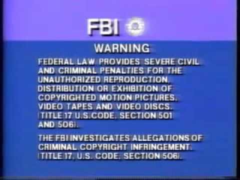 Columbia Tristar Fbi Warning Youtube