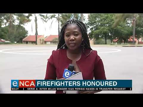 Lisbon bank firefighters honoured