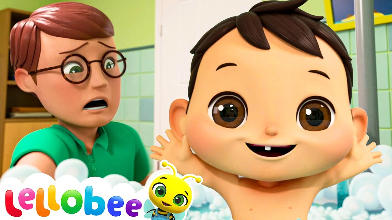 Baby Bath Song! | Lellobee: Nursery Rhymes & Baby Songs | Learning Videos For Kids