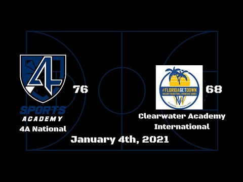 4A Sports Academy Grey 76 vs Clearwater Academy International 68, January 3rd, 2021