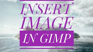 INSERT IMAGE IN GIMP , COMPUTER