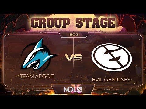 Team Adroit vs EG vod