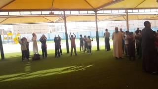 جزء من تمرينات الصباح بمدارس الرواد بريدة تحت إشراف معلم البدنية أ / حسني فوزي