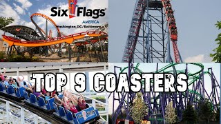 List Of Six Flags America Rides