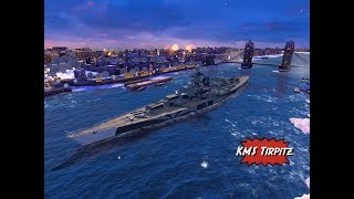 KMS Tirpitz premium tier 8 battleship review for World of Warships Blitz