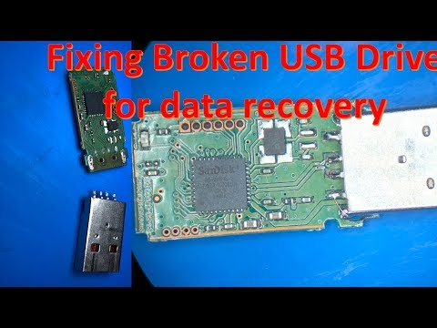 Sandisk Flash Drive Repair Data Recovery   How To Fix Broken USB Drive