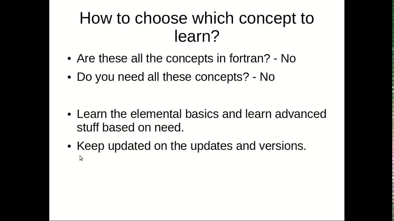 Lecture 32: What else in Fortran?   CosmoLearning Programming
